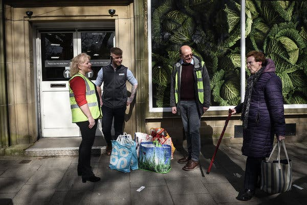 Outbreaks of altruism. '250,000 people in the UK volunteers help vulnerable amid the growing crisis Crown