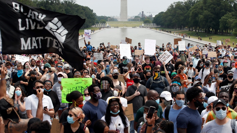 Protesters Rally for racing Justice in Washington View a turning point