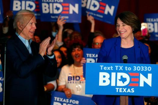 Joe Biden Dodge if Klobuchar will be his running mate