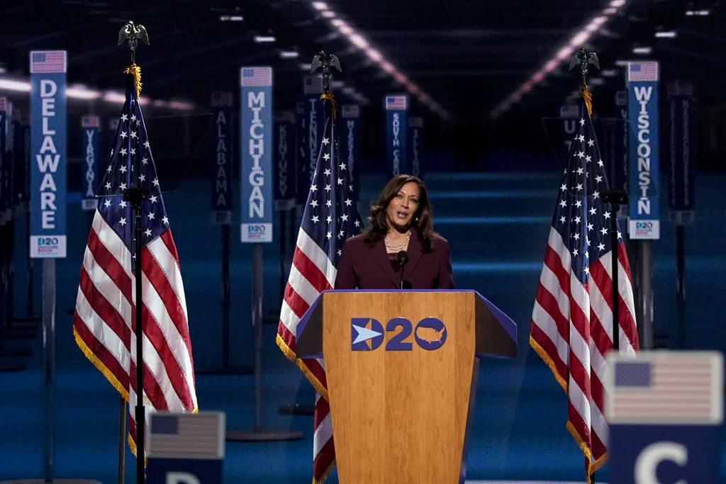 Kamala Harris is the first woman of color to a vice presidential nomination Accept