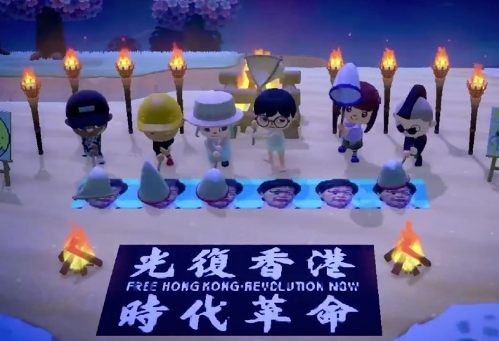 Hong Kong democracy protesters spreading messages of Animal Crossing. Now it passed by a large Chinese e-commerce site