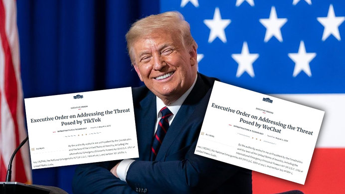 Trump Signs Executive Orders TikTok transactions and WeChat in 45 days barring