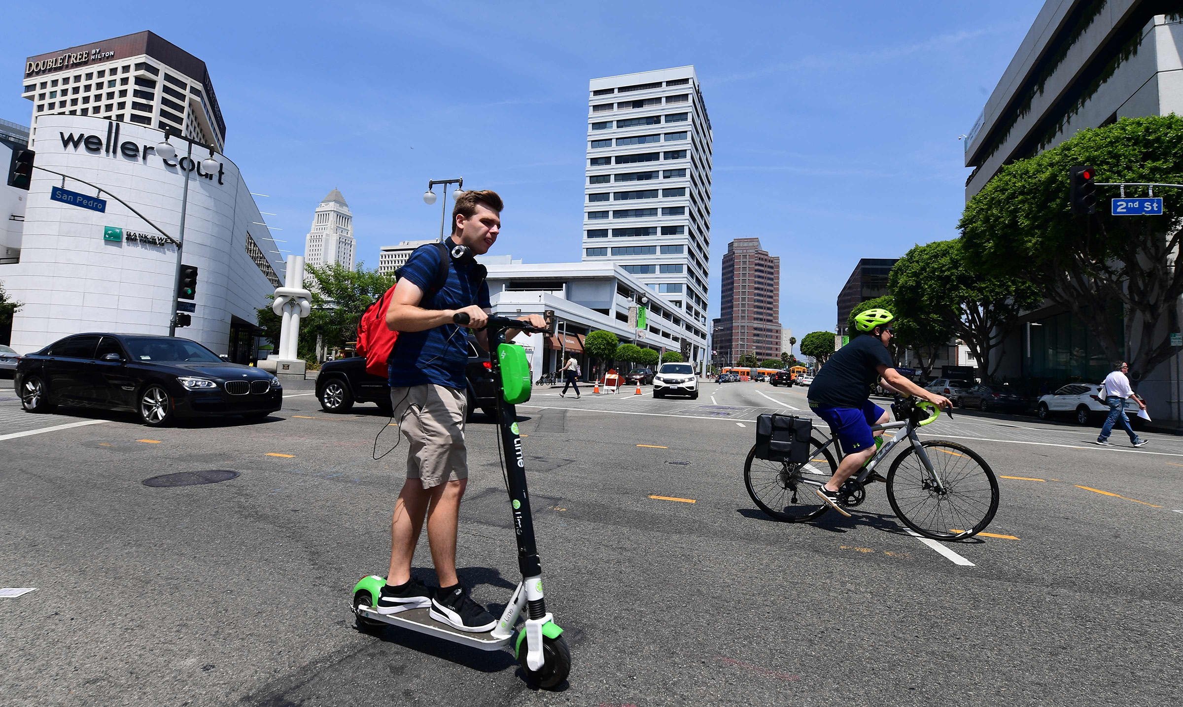 Cyclists and e-scooter collide in the battle for European roads