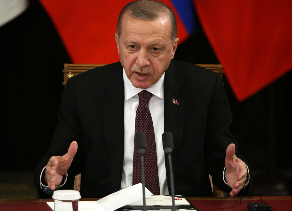Erdogan used Zealand shooting movies mosque in the countryside in Turkey