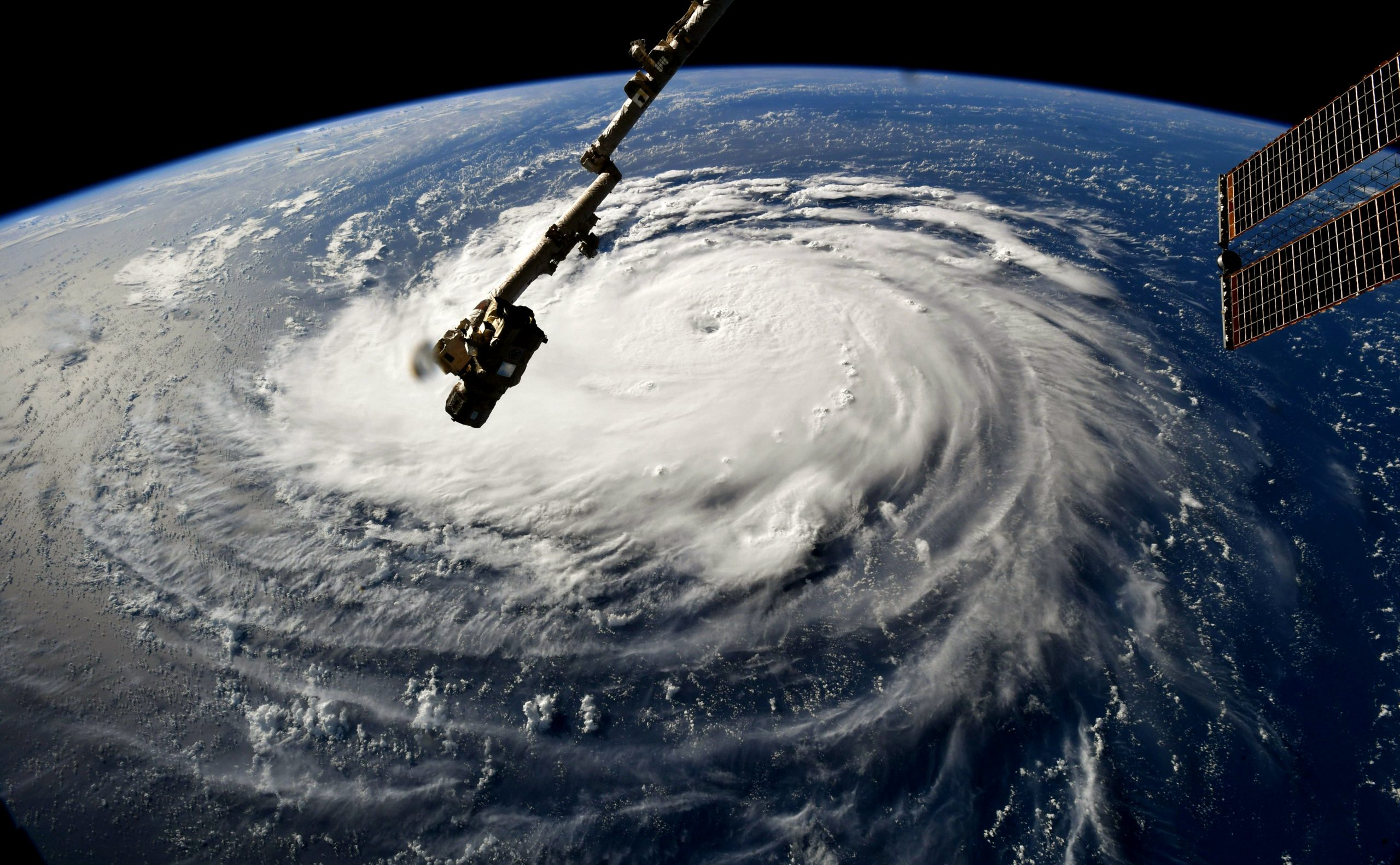 Astronauts took this stunning image of Hurricane Florence from the Space Station