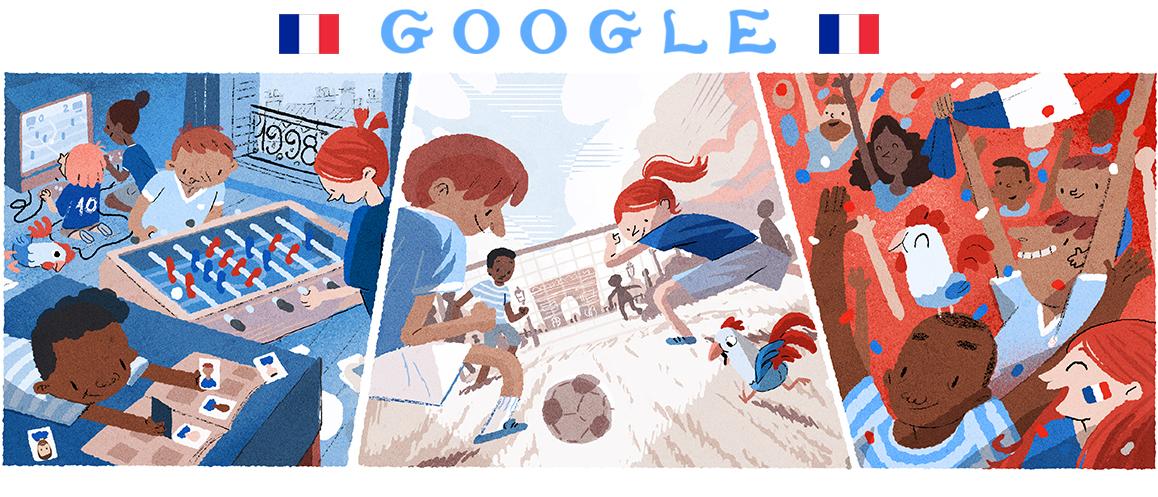 Sunday Google Doodle celebrates World Cup final