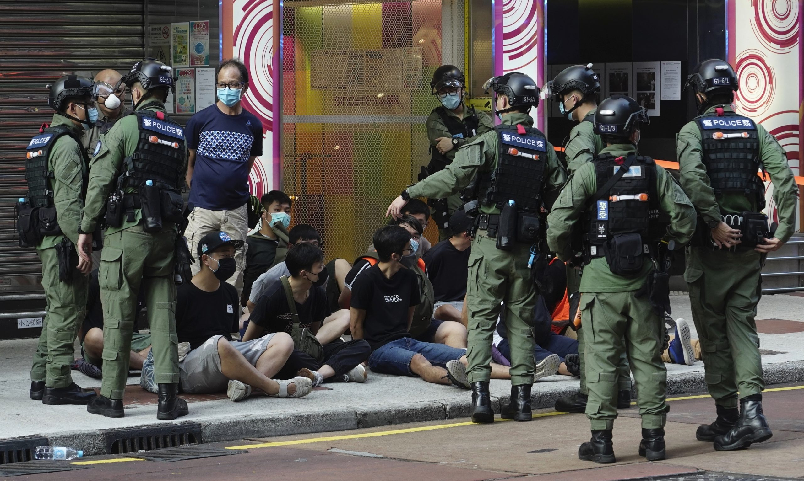 Hong Kong police arrested 90 protesters during the demonstrations delayed local elections