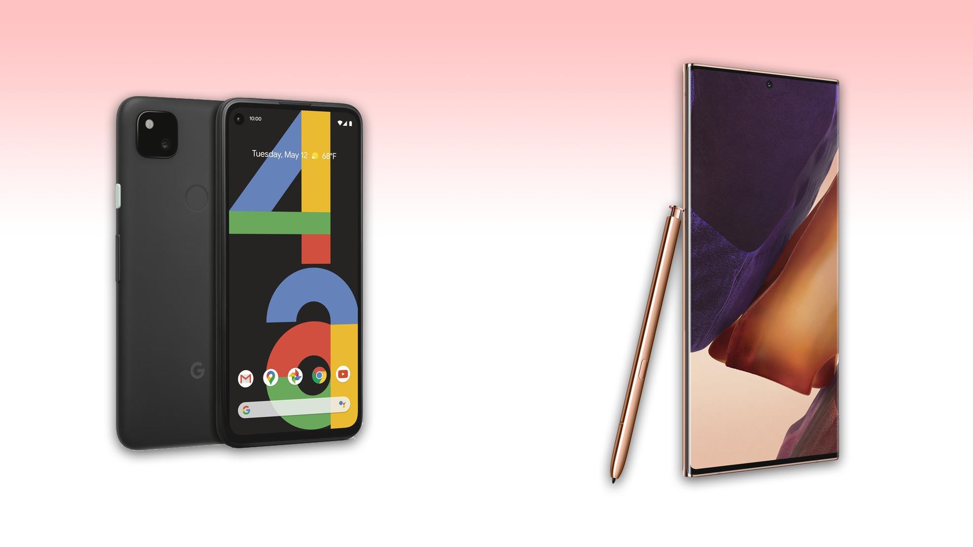 Smartphone Showdown: high-end Samsung Galaxy Note20 Ultra-5G against Google Budget pixels fourth